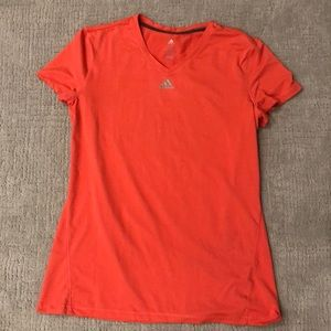 Adidas coral climalite athletic t shirt dri fit L